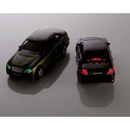 Metalowy pojazd z napędem, samochód sportowy z dźwiękiem i światłami