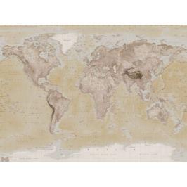 Mapa Świata Vintage Light - fototapeta