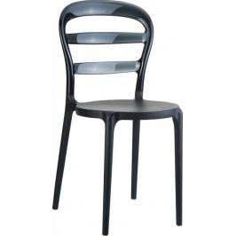 Krzesło Miss Bibi czarne, czarne oparcie