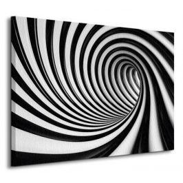 Czarno-biały tunel - Obraz na płótnie