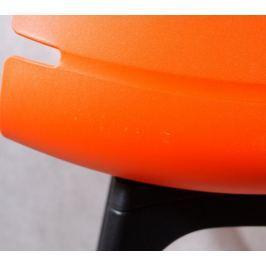 Krzesło Techno pomarańczowe, podstawa czarna outlet