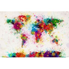 Mapa świata Michael Tompsett - plakat