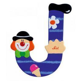 Drewniana literka J, Clown