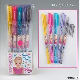 Zestaw długopisów żelowych z brokatem Top Model