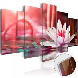 Obraz na szkle akrylowym - Amarantowy lotos [Glass]
