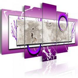 Obraz - Abstrakcja z fioletem