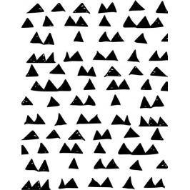 Wzór trójkąty scandi - plakat