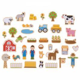 Magnesy drewniane na lodówkę Gospodarstwo - Farma