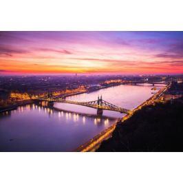 Budapeszt Poranek nad Dunajem - plakat premium