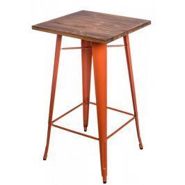 Stół barowy Paris Wood pomarańczow sosna