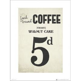 Coffee Walnut Cake - plakat premium