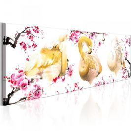 Obraz - Złociste flamingi