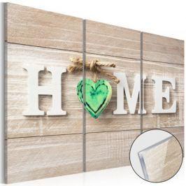 Obraz na szkle akrylowym - Home: Zielone serce [Glass]