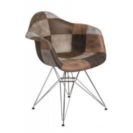 Krzesło P018 DAR patchwork beż - brąz