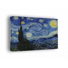 Gwieździsta noc - Vincent van Gogh - obraz na płótnie