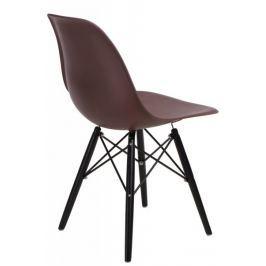 Krzesło P016W PP brązowe/black