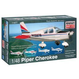 Model plastikowy - Samolot Piper Cherokee - Minicraft