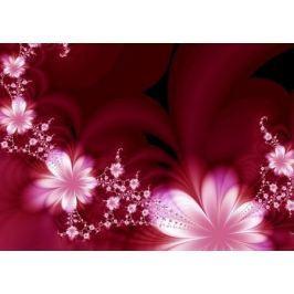 Garland of flowers - fototapeta