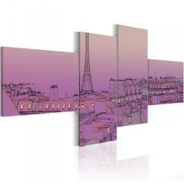 Obraz - Purpurowy Paryż