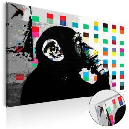 Obraz na szkle akrylowym - Banksy The Thinker Monkey [Glass]