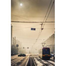 Warszawa We mgle - plakat premium