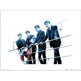 The Beatles Blue - plakat premium