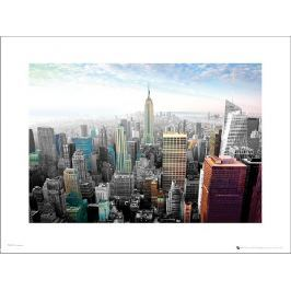 New York Cityscape Colours - plakat premium