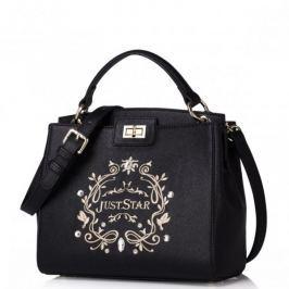 Damska torebka na ramię z ekologicznej skóry Czarna