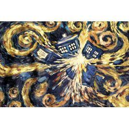Doctor Who Wybuch Tardis - plakat