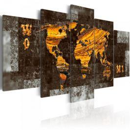 Obraz - Ukryte skarby (Mapa świata)