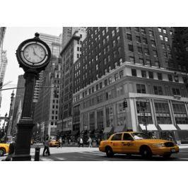 Zegar na Avenue, New York BW - fototapeta