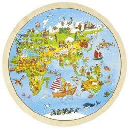 Dwustronne puzzle Poznaj świat z Peggy Diggledey