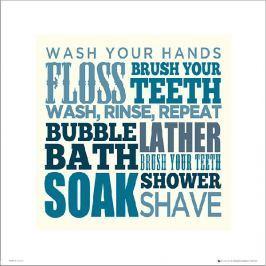 Bathroom Typographic - plakat premium