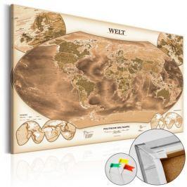 Obraz na korku - WELT [Mapa korkowa]
