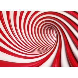Czerwony tunel - fototapeta
