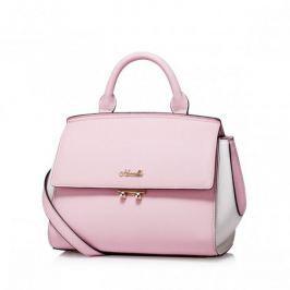 Skórzana torebka do ręki z wiosennej kolekcji Różowa