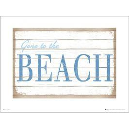 Gone to Beach - plakat premium