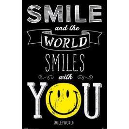 Smiley - Uśmiechnij się a Świat Uśmiechnie się z Tobą - plakat