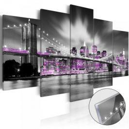 Obraz na szkle akrylowym - Ametystowy Nowy Jork [Glass]