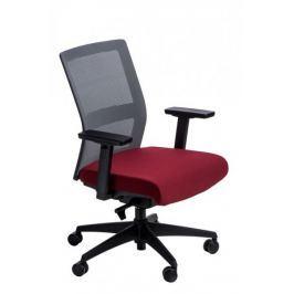 Fotel biurowy Press szary/czerwony