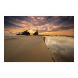 Wydma na plaży - plakat