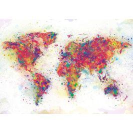 Mapa Świata Colour Splash - plakat