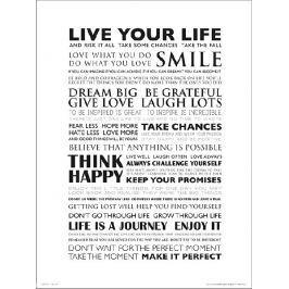 Live Your Life - plakat premium