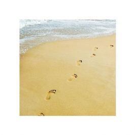 Walking. Ślady stóp na plaży  - plakat premium