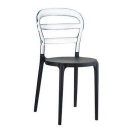 Krzesło Miss Bibi czarne, clear transp