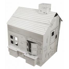 Tekturowy duży domek do malowania i zabawy #E1