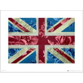 Union Flag Flowers - plakat premium
