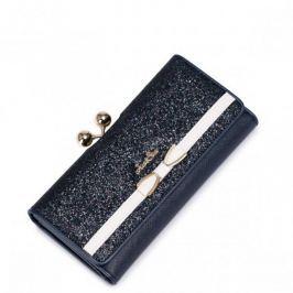 Dziewczęcy portfel ze stylowym zapięciem Niebieski