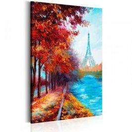 Obraz malowany - Jesienny Paryż