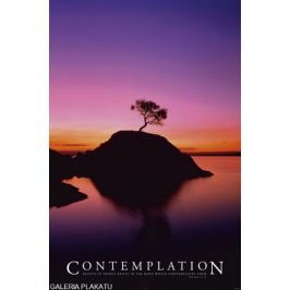 Contemplation Piękny Zachód Słońca - plakat motywacyjny